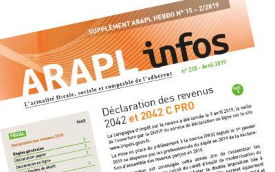 ARAPL INFOS – DÉCLARATION DES REVENUS 2042 ET 2042 C PRO